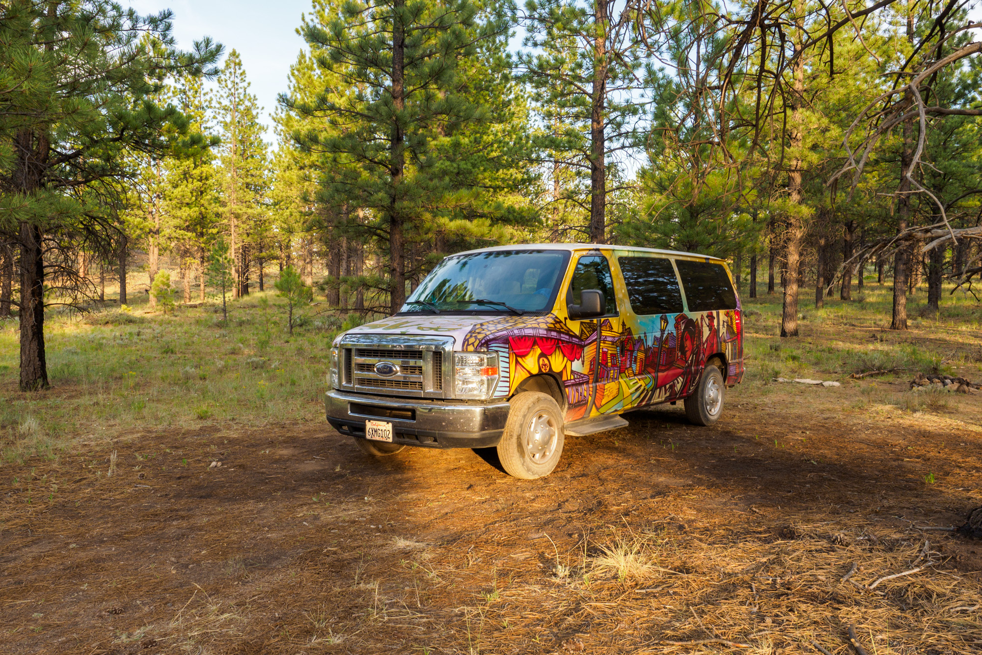 Bryce Canyon Nationalpark - Freier Stellplatz im Dixie National Forest kurz vor dem Parkeingang