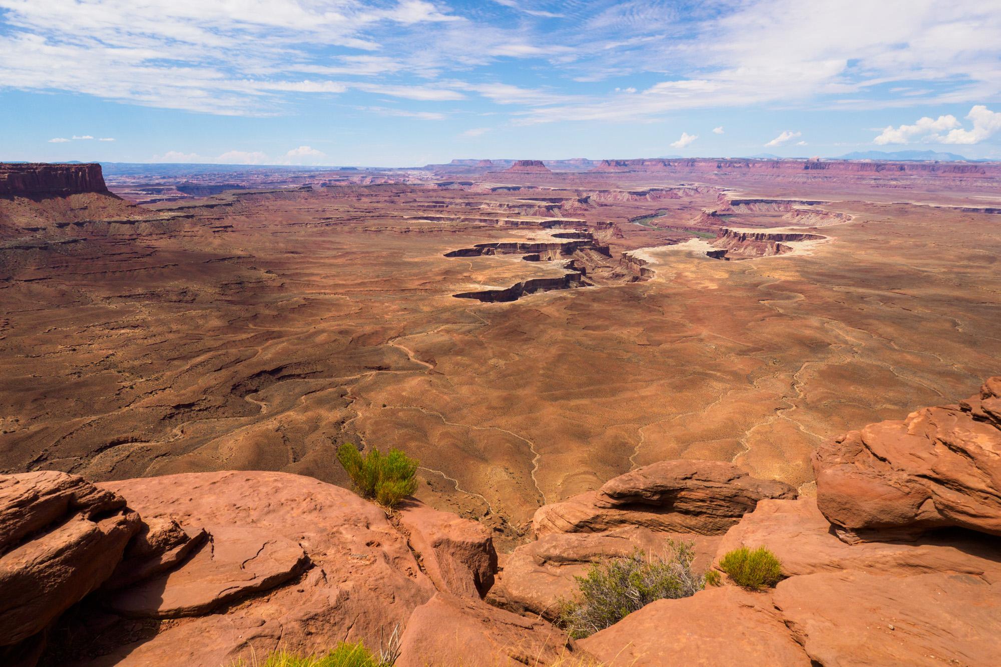 Canyonlands Nationalpark - Aussicht vom Green River Overlook