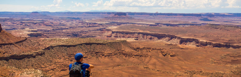 Canyonlands Nationalpark - Aussicht vom Grand View Point Overlook Richtung Green River