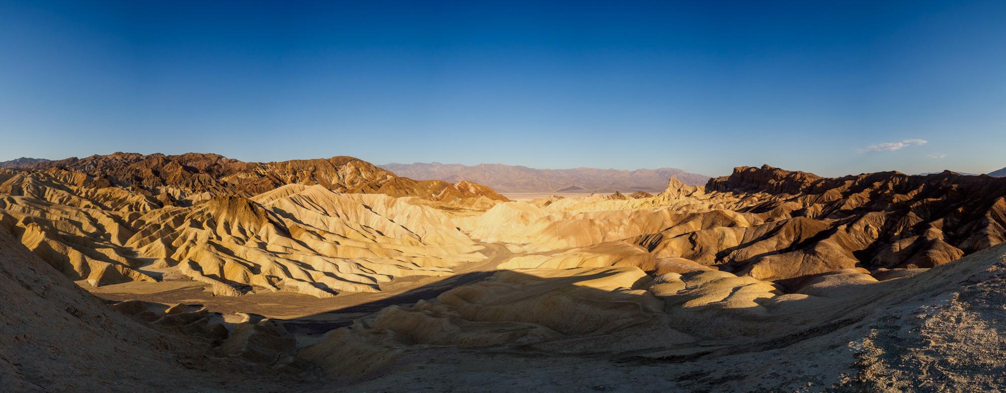 Death Valley Nationalpark - Aussicht vom Zabriskie Point Richtung Death Valley