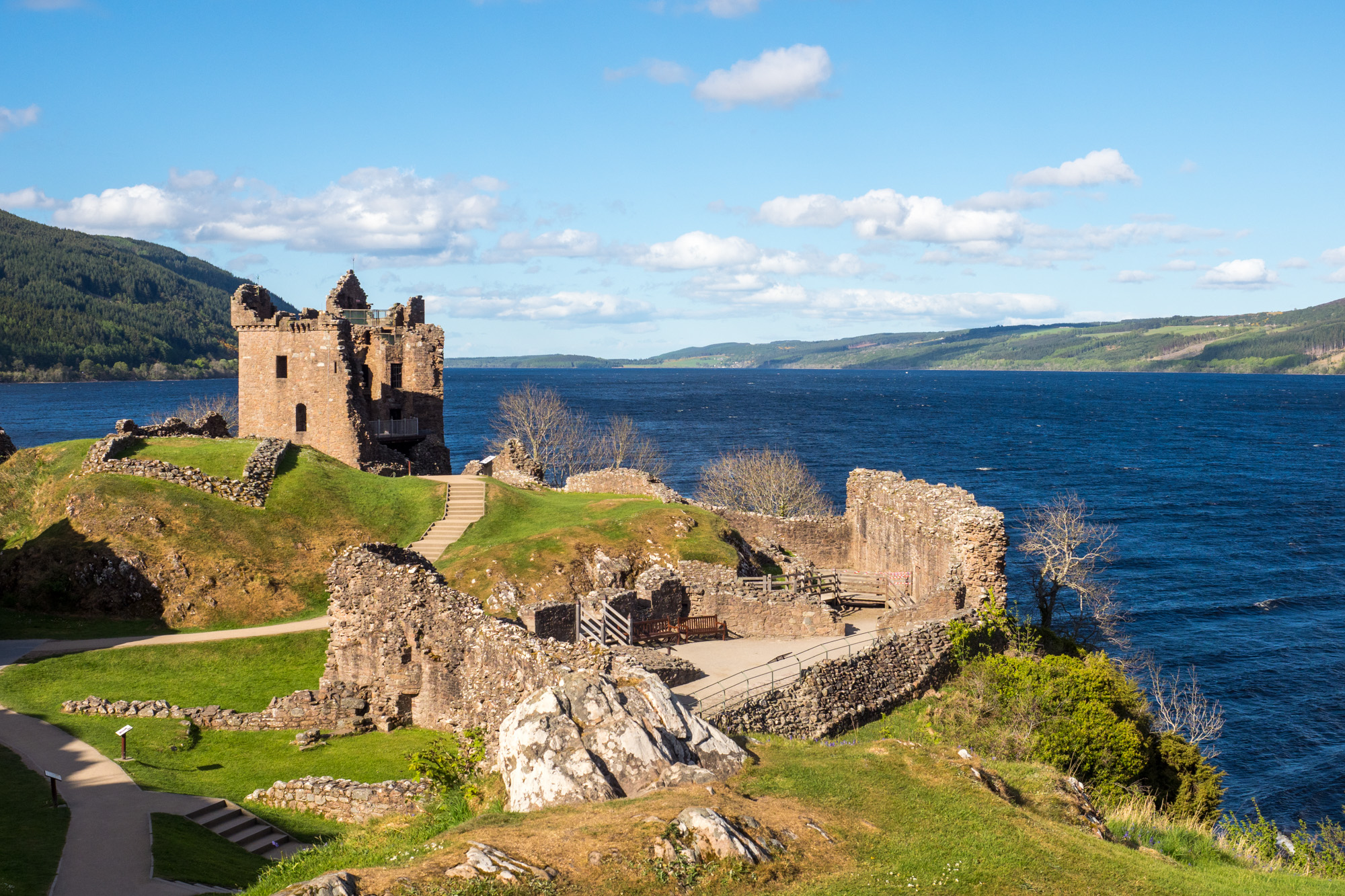Great Glen Way - Urquhart Castle bei Drumnadrochit
