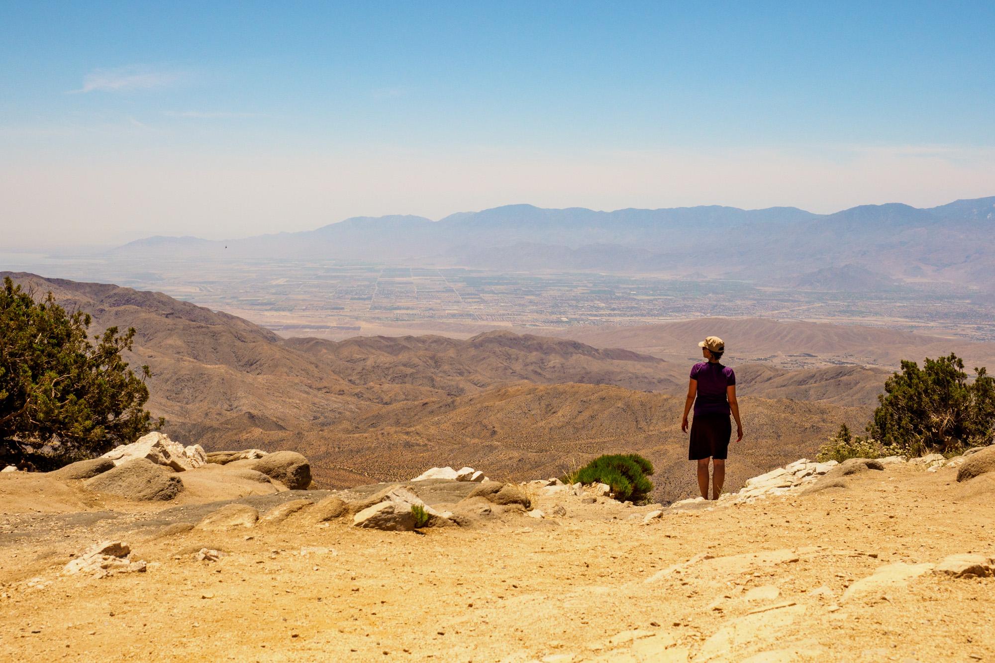 Joshua Tree Nationalpark - Aussicht von Keys View auf das Coachella Valley mit Palm Springs