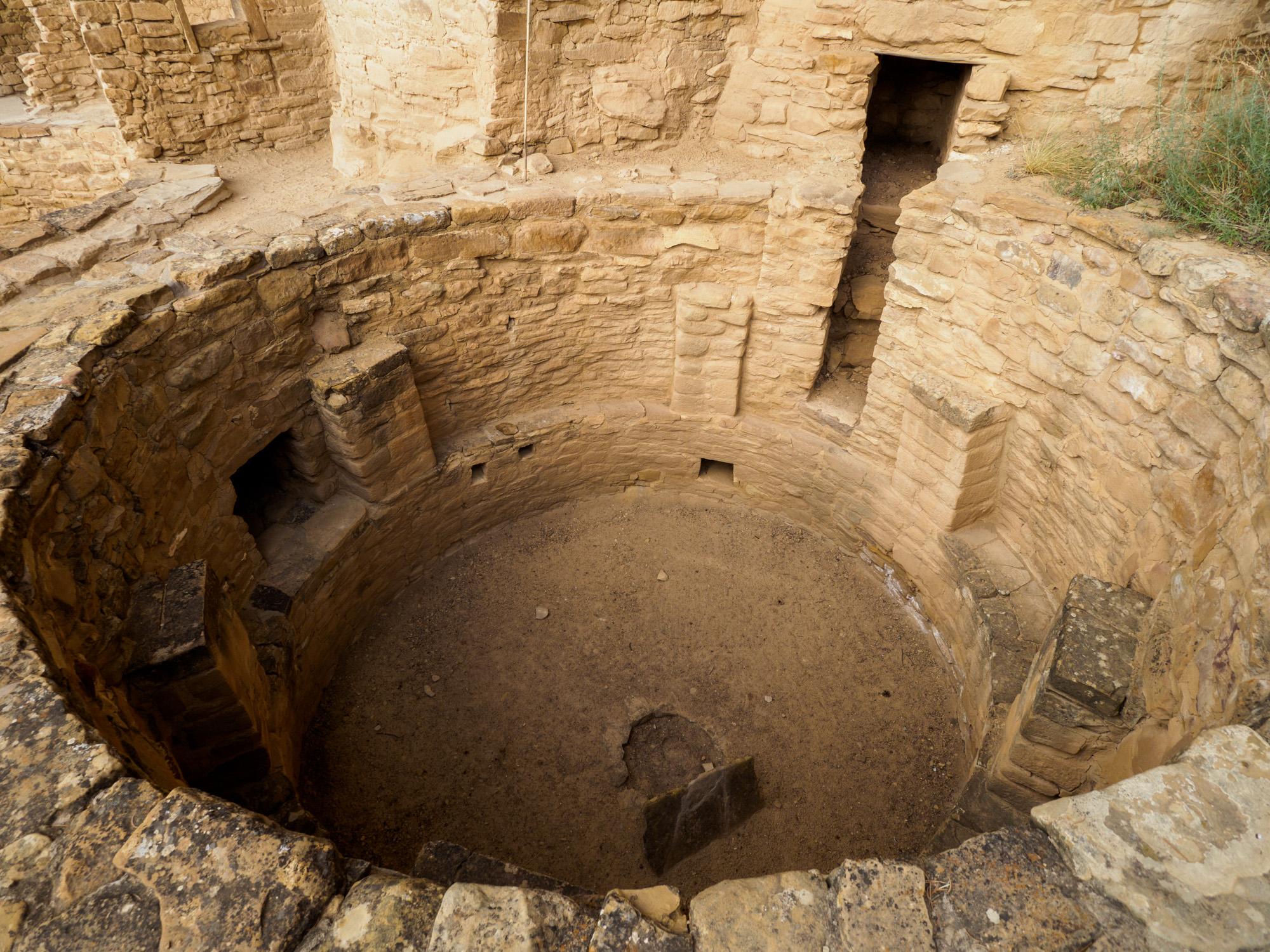 Mesa Verde Nationalpark - Grundriss von einem ehemaligen Haus im Cliff Palace
