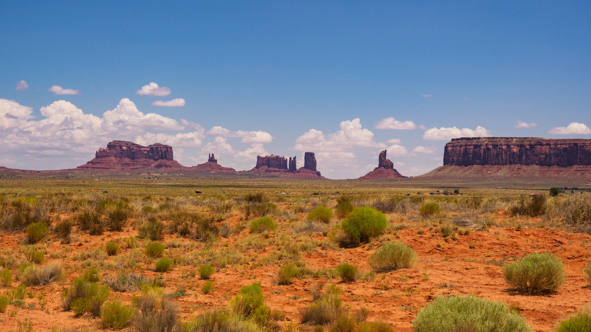 Monument Valley - Anfahrt zum Monument Valley