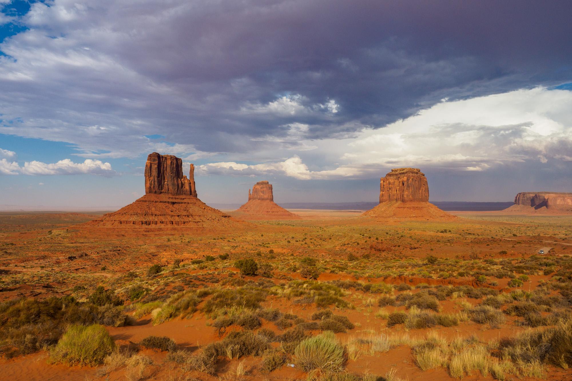 Monument Valley - Die drei berühmten Tafelberge