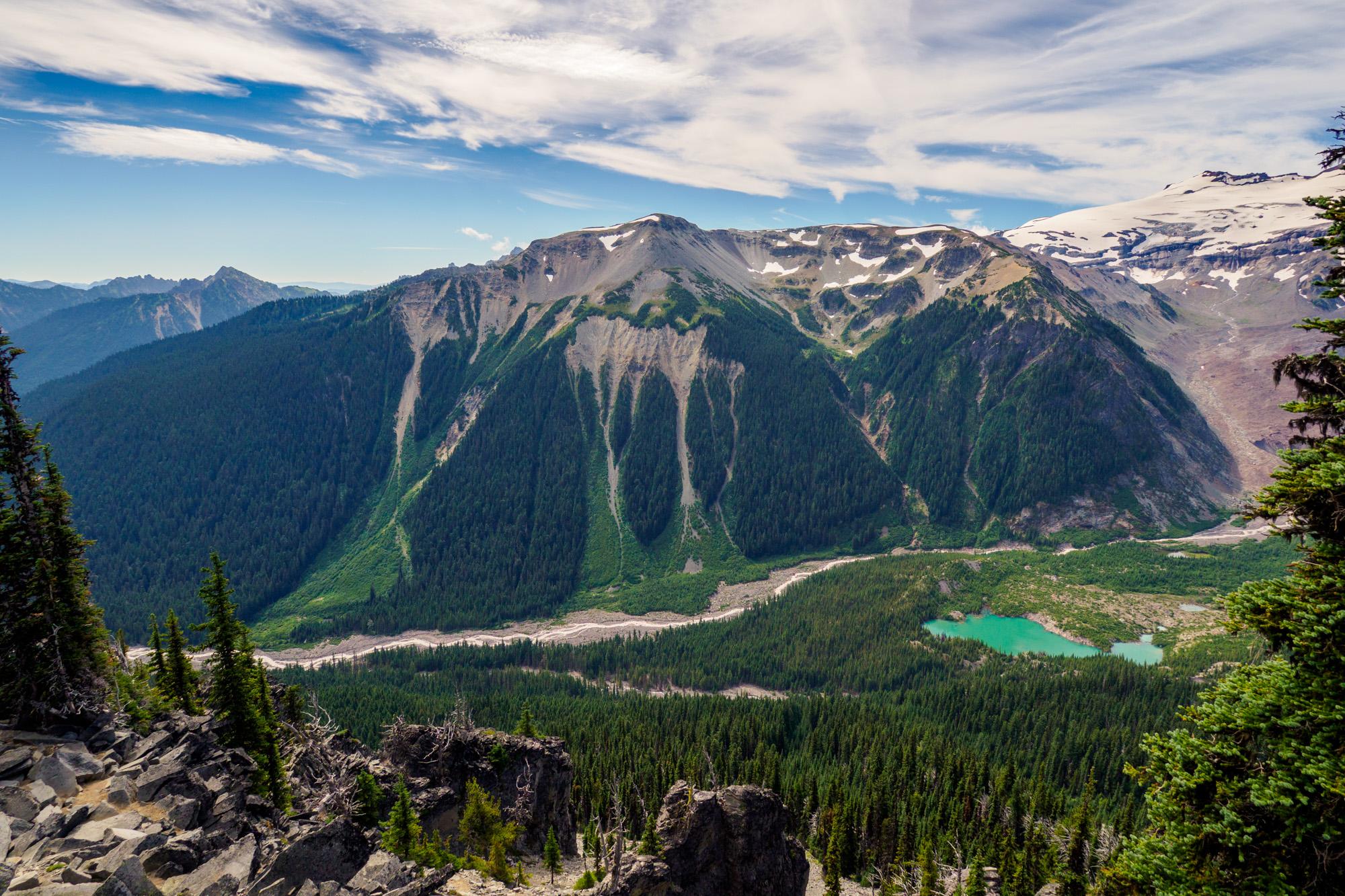 Mt Rainier Nationalpark - Aussicht vom Burrough Mountain Trail