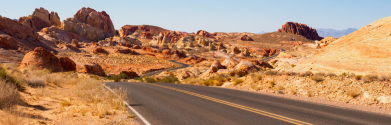 Valley of Fire State Park - Auf dem Scenic Drive Richtung White Dome