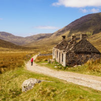 West Highland Way - Ruine bei Lairigmor