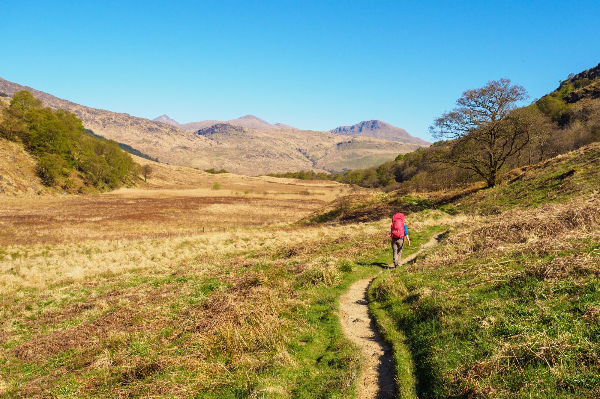 West Highland Way - Hochebene vor Inverarnan