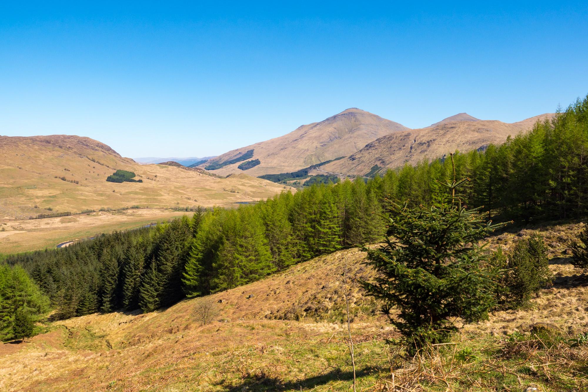 West Highland Way - Oberhalb Crianlarich