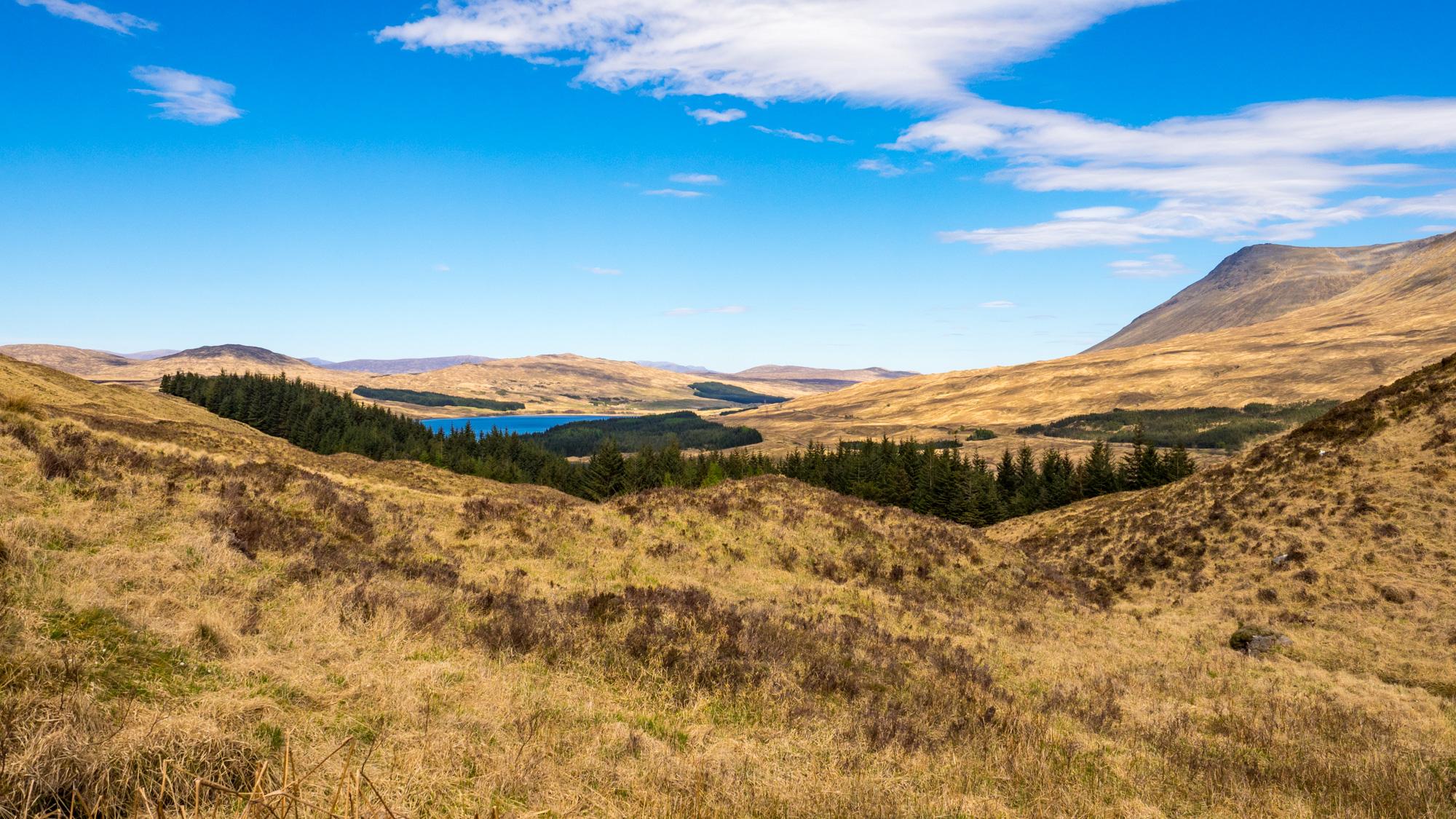 West Highland Way - Aussicht vom Mam Carraigh auf das Loch Tulla