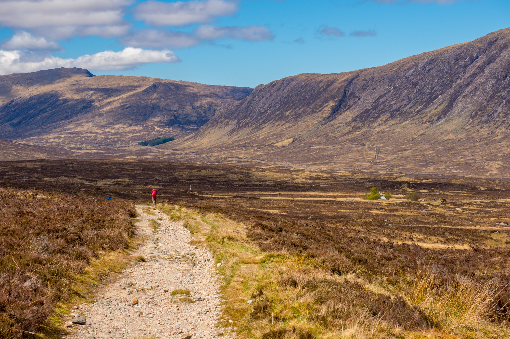 West Highland Way - Kurz vor Glencoe Mountain