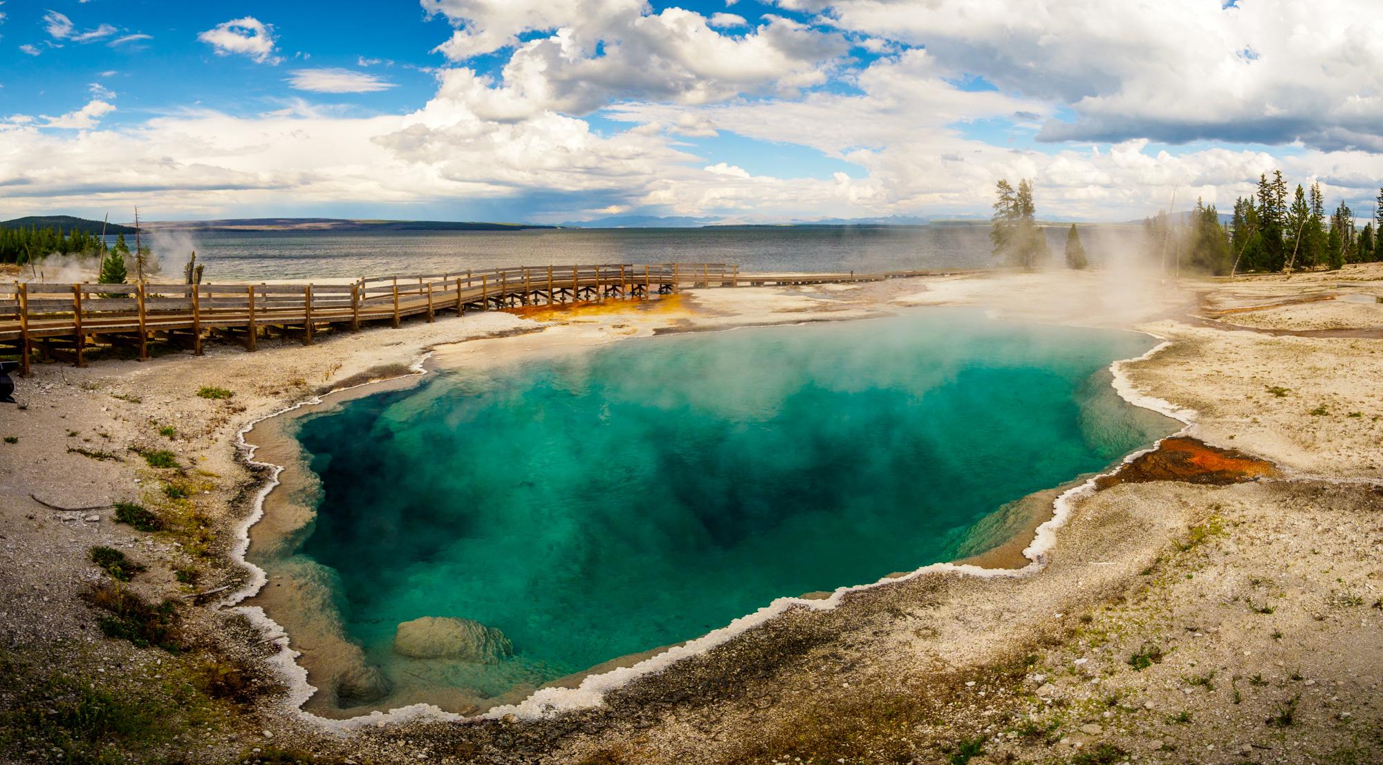 Yellowstone Nationalpark - Black Pool im West Thumb Geyser Basin