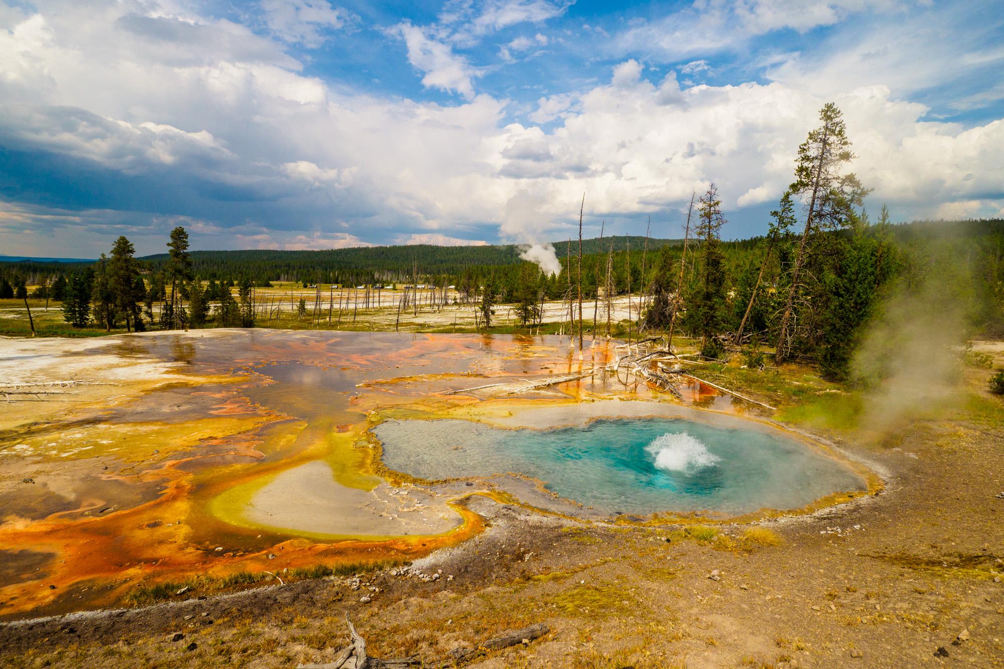 Yellowstone Nationalpark - Firehole Lake Drive