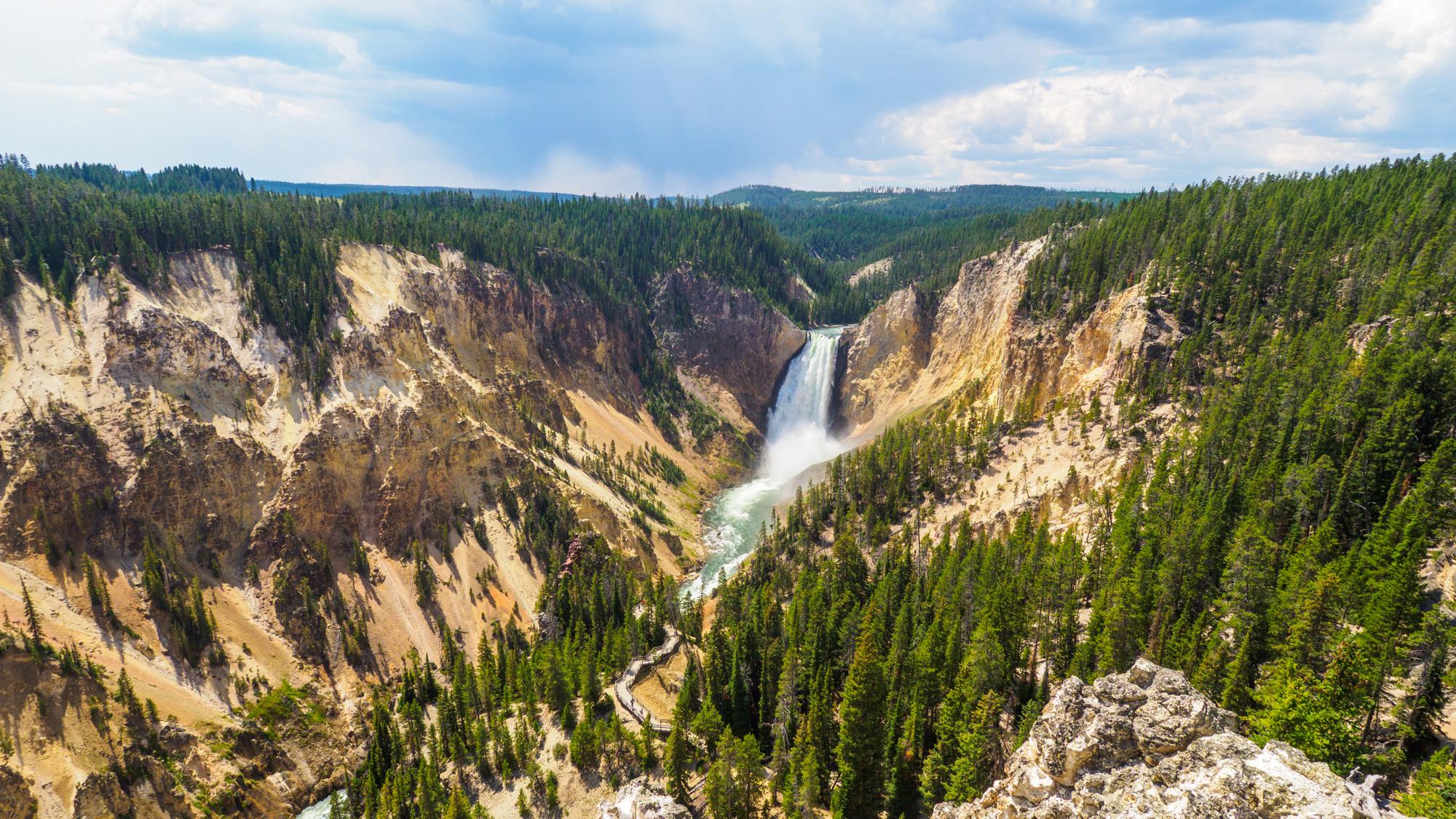 Yellowstone Nationalpark - Lower Fall im Yellowstone Canyon