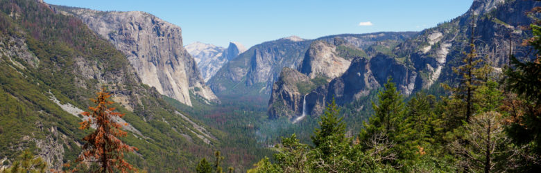 Yosemite Nationalpark - Aussicht vom Inspiration Point auf das Yosemite Valley