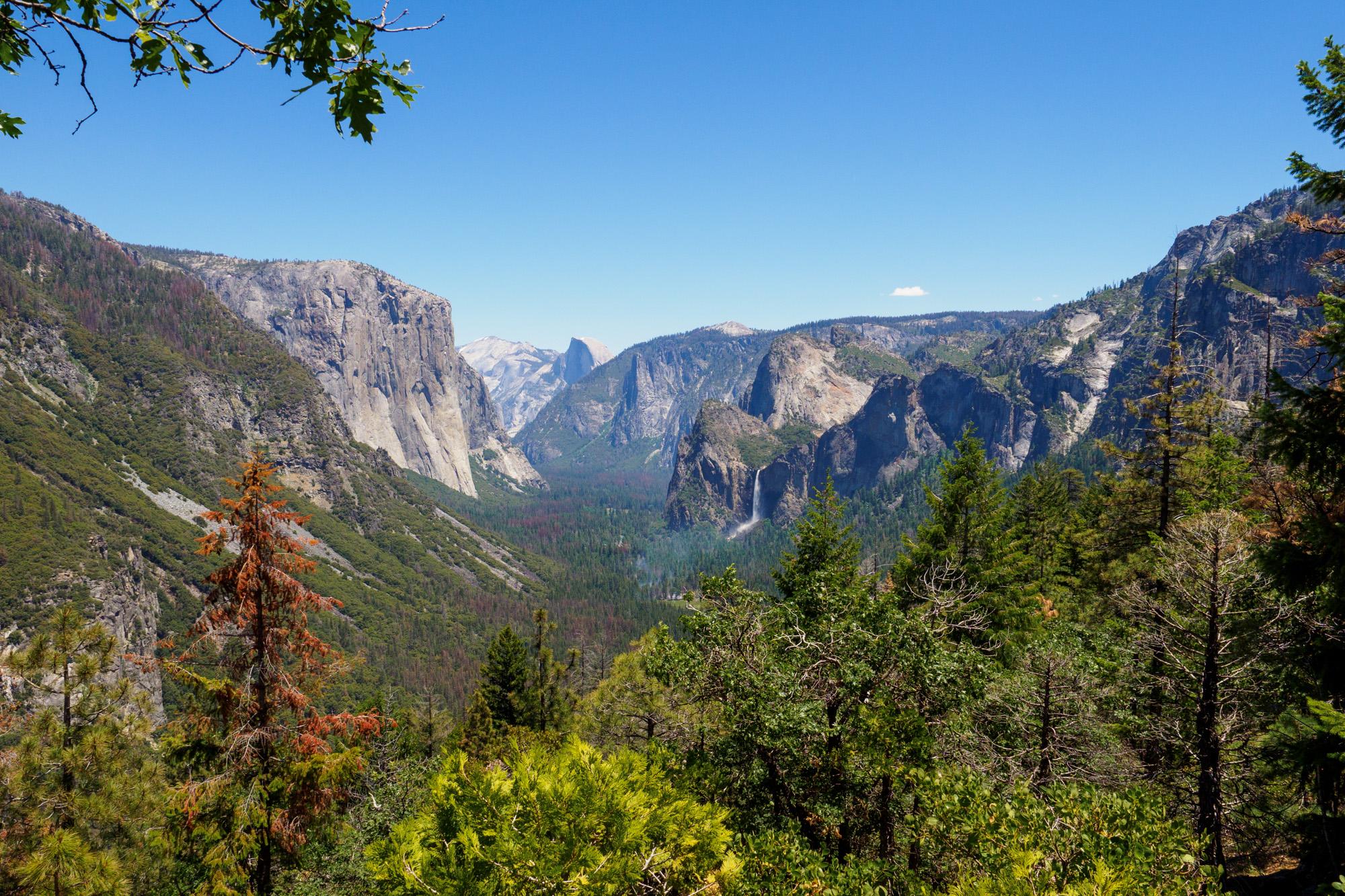 Yosemite Nationalpark - Aussicht vom Inspiration Point auf das Yosemite Valley