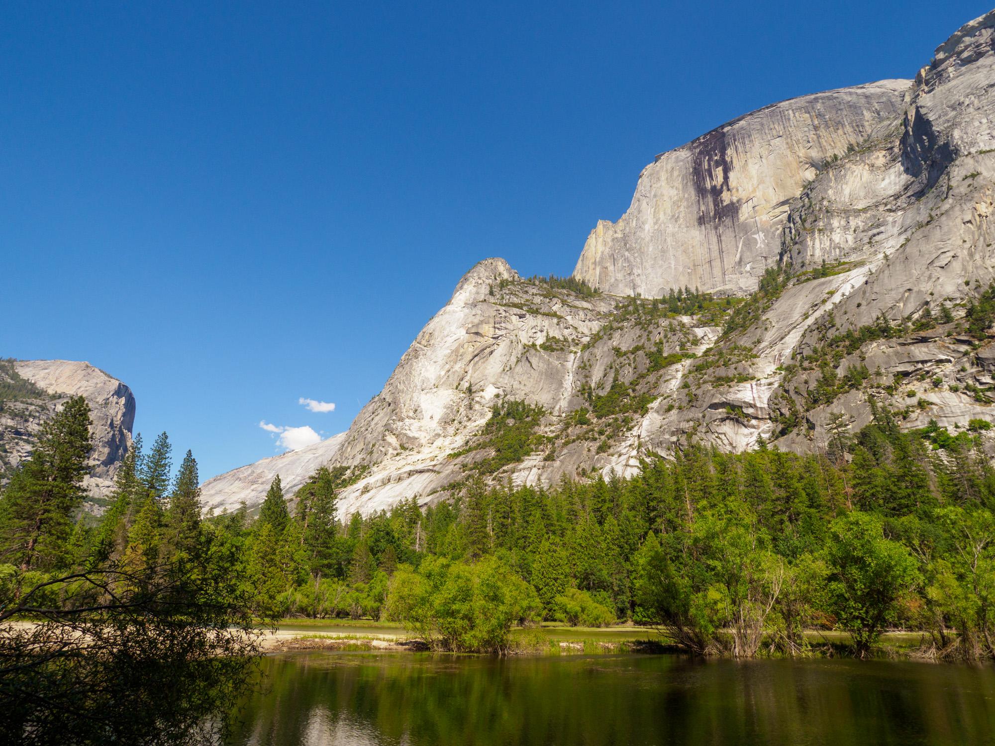 Yosemite Nationalpark - Sicht vom Mirror Lake Richtung Half Dome