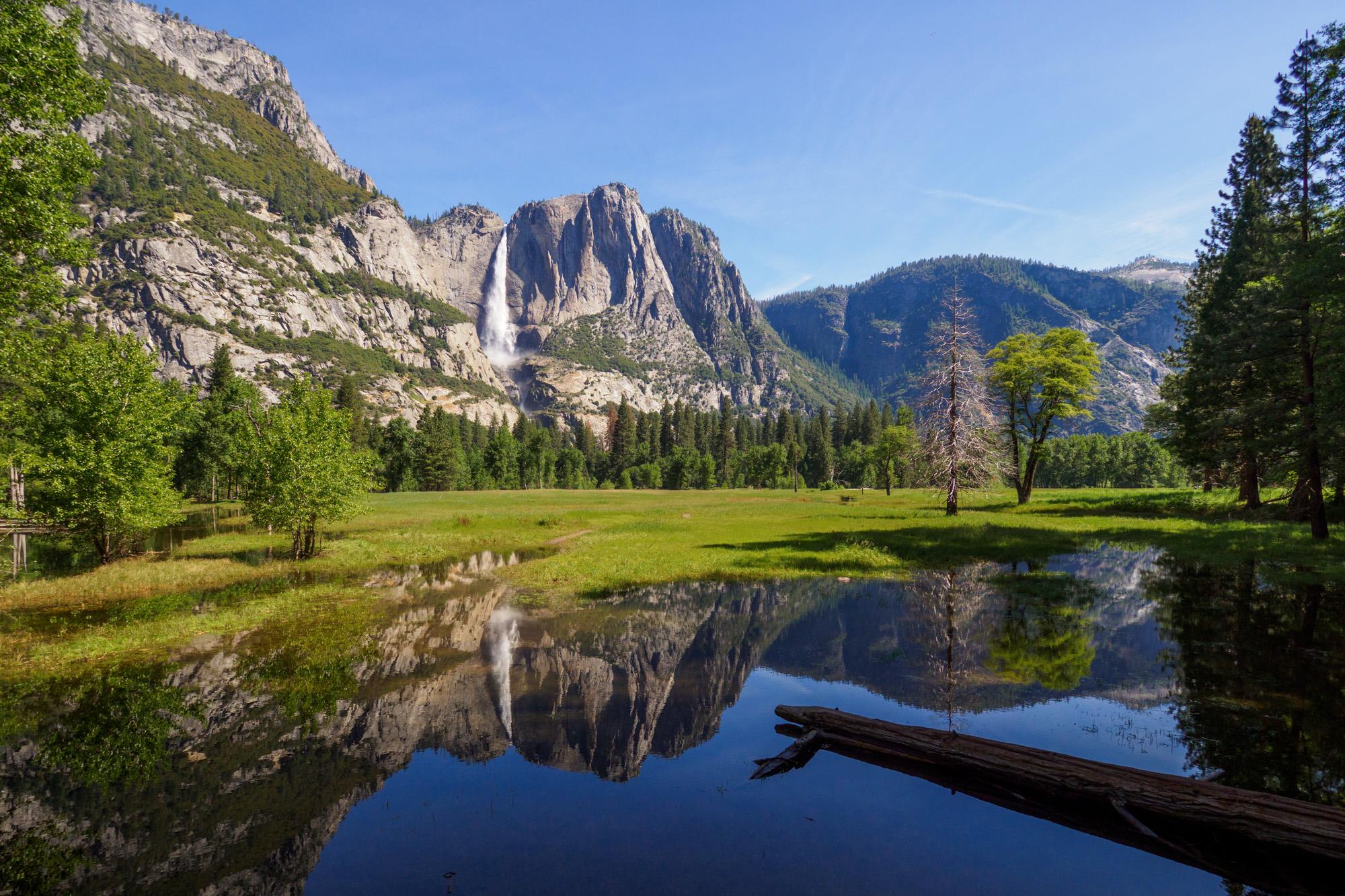 Yosemite Nationalpark - Beste Aussicht vom Sentinel Beach auf den Yosemite Fall