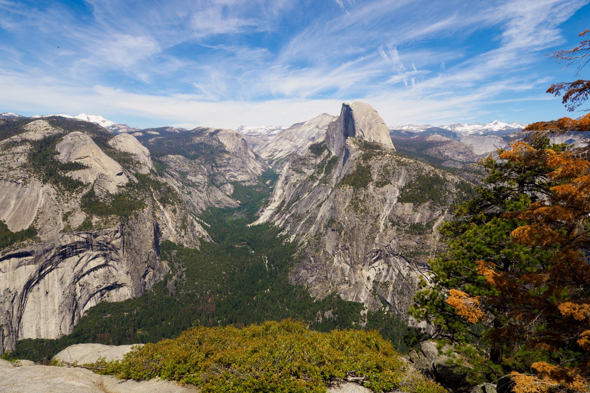 Yosemite Nationalpark - Aussicht vom Glacier Point auf den Half Dome