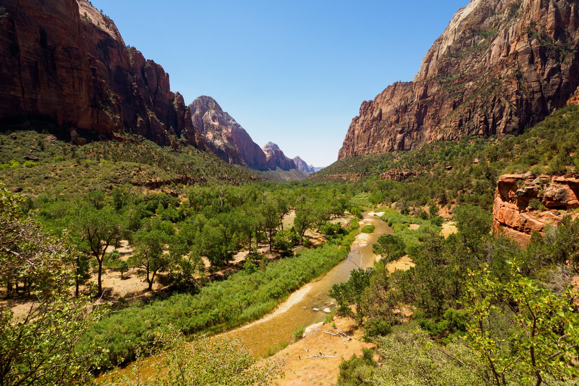 Zion Nationalpark - Aussicht vom Wanderweg zu den Emerald Pools