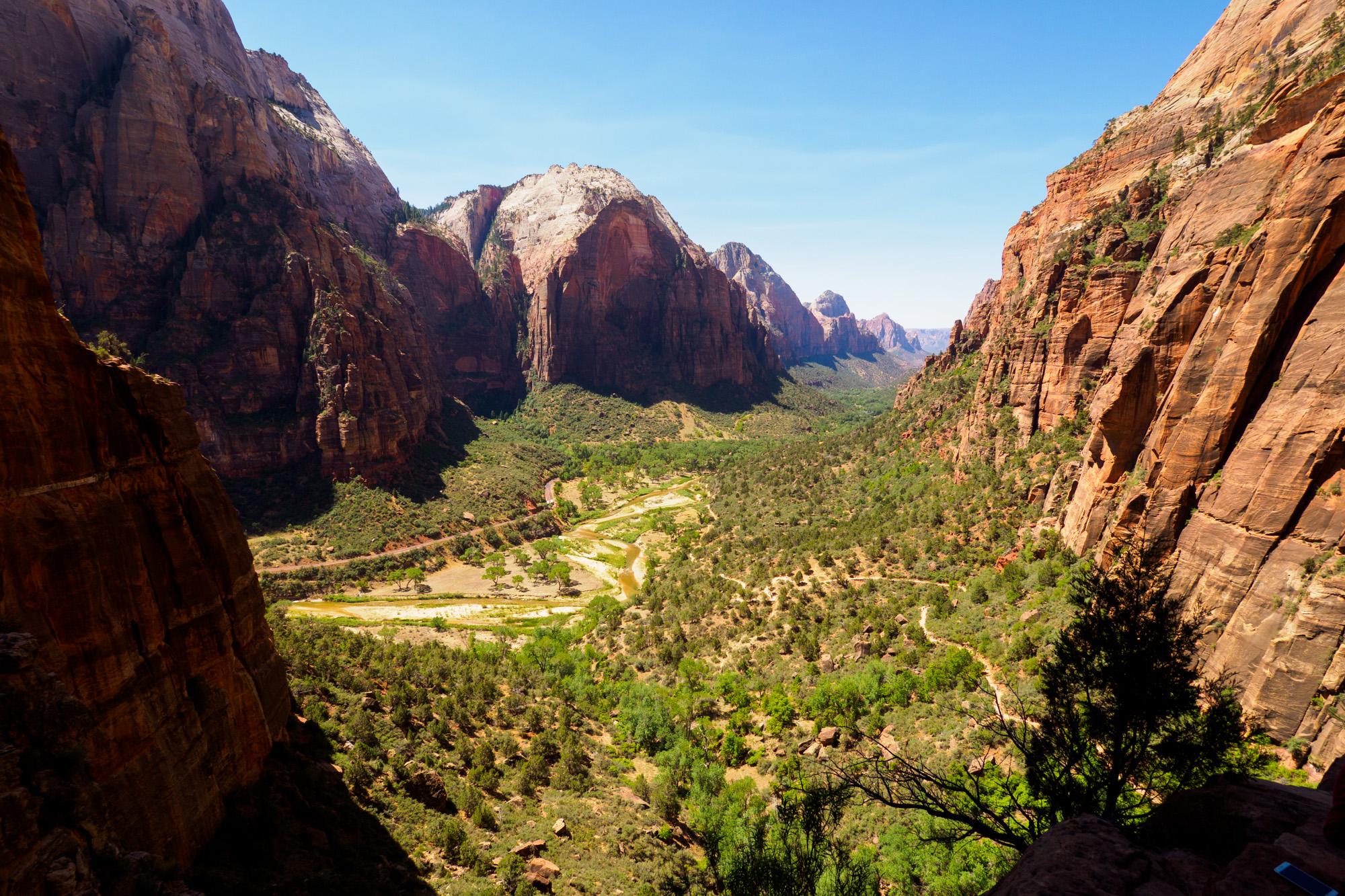 Zion Nationalpark - Aussicht vom Wanderweg zum Angels Landing