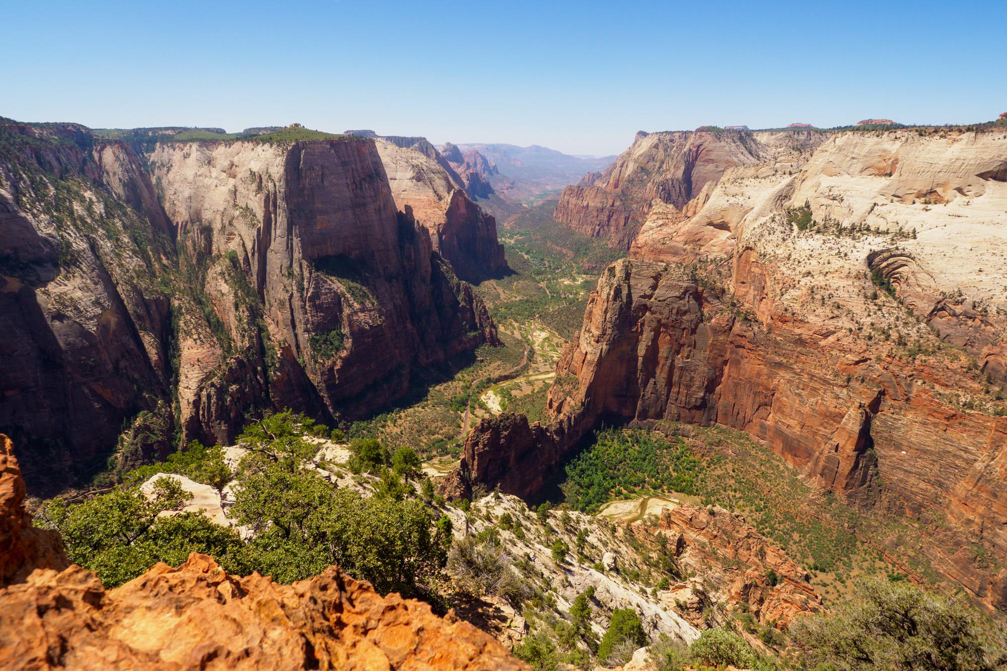 Zion Nationalpark - Aussicht vom Observation Point