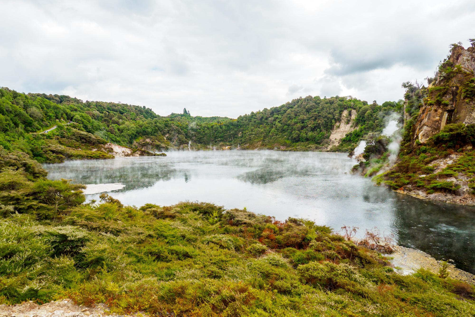 Rotorua und Taupo - Frying Pan Lake im Waimangu Volcanic and Thermal Valley