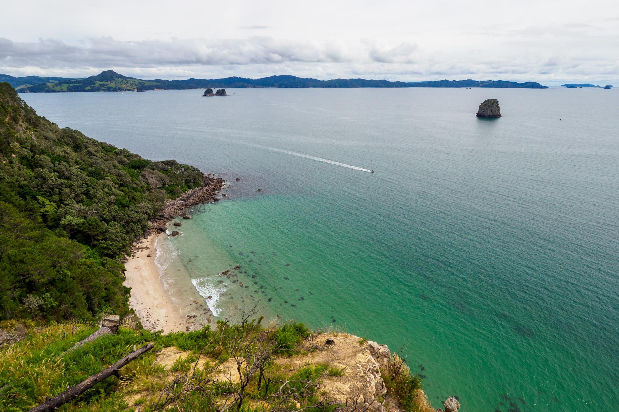 Coromandel - Aussicht auf die Küste der Coromandel Halbinsel