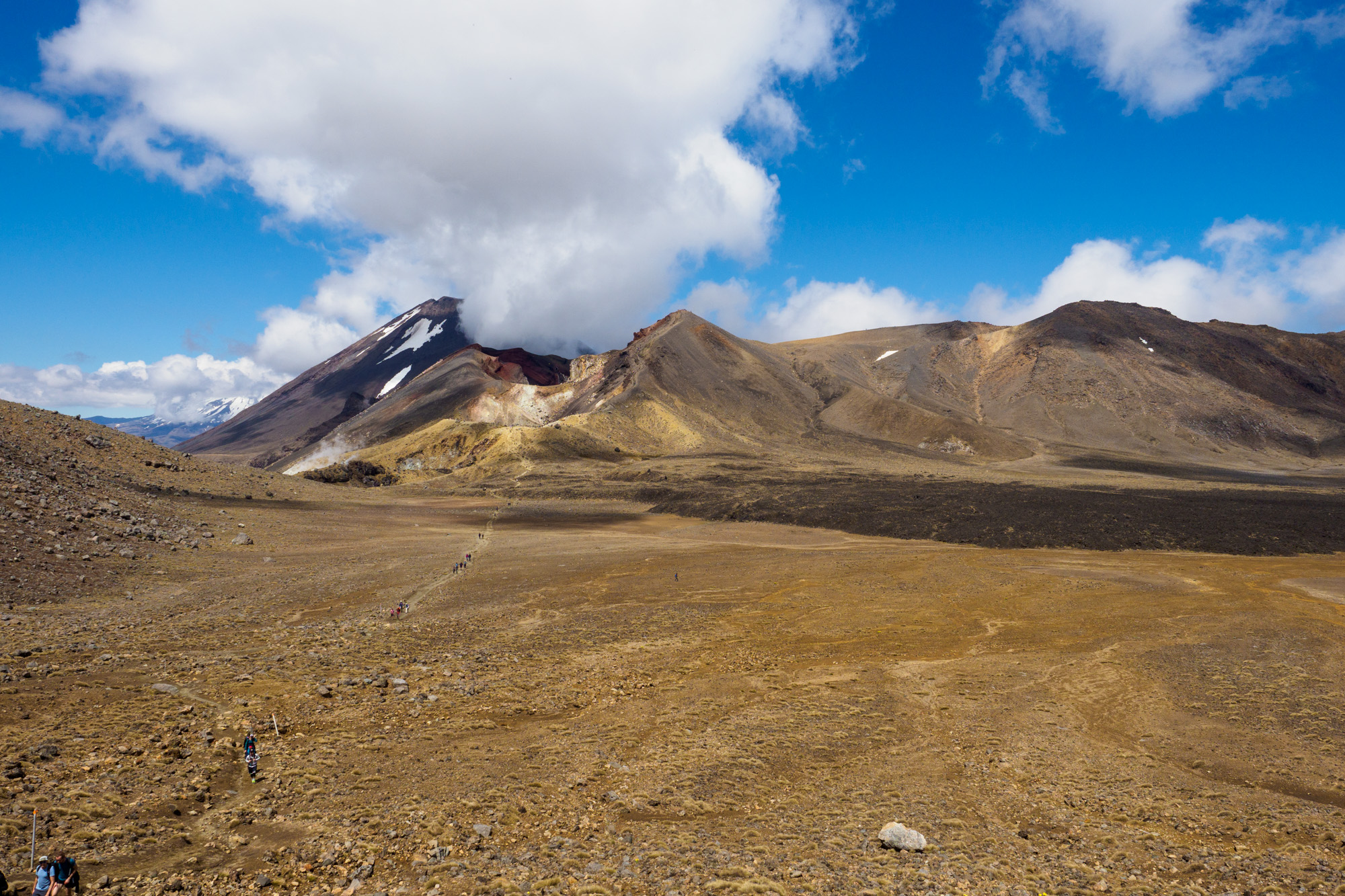 Tongariro - Blick auf den letzten Ausbruch von Mt Tongariro