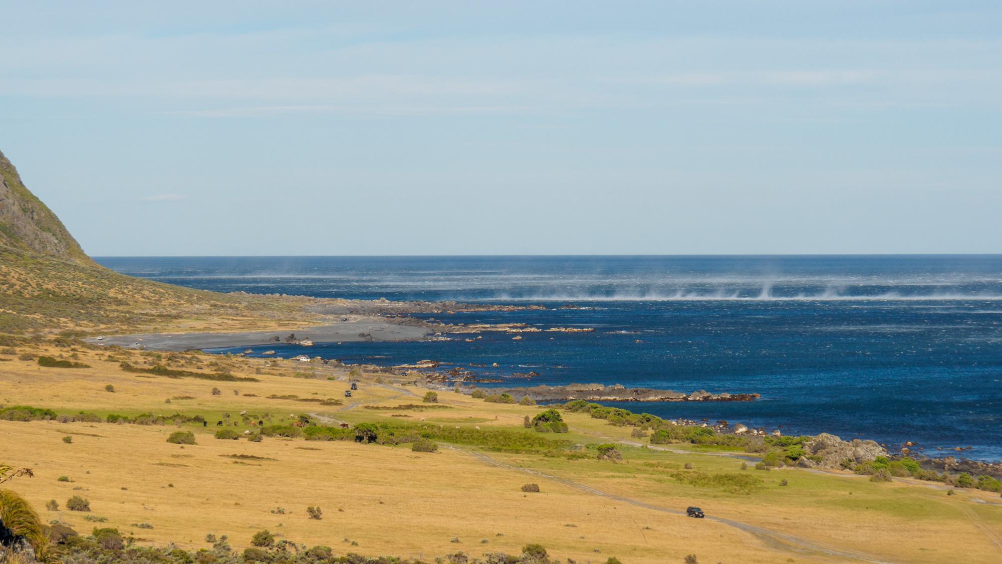 Cape Palliser - Tanzende Wasserfahnen