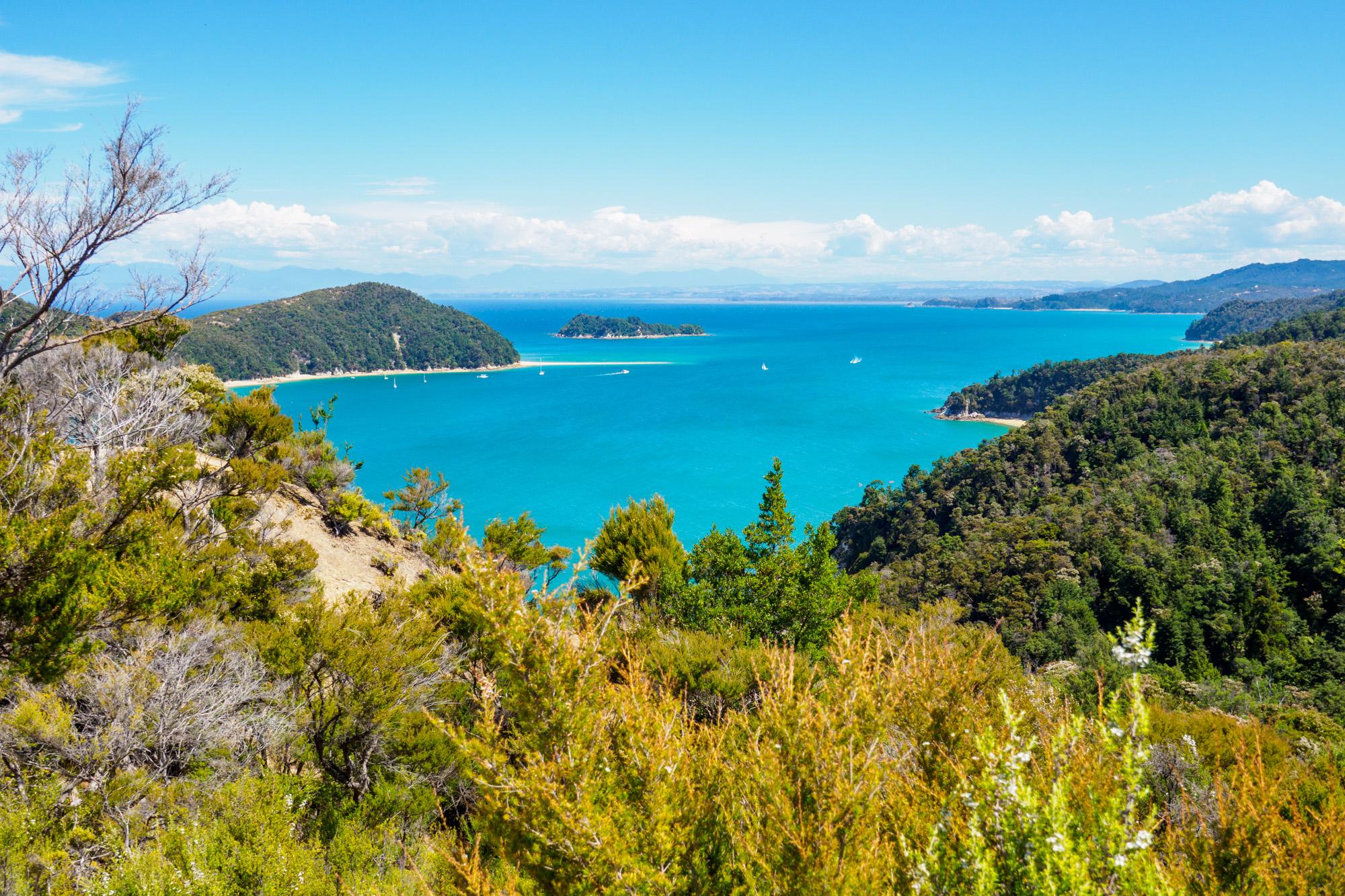 Abel Tasman Nationalpark - Panoramasicht auf die Küste