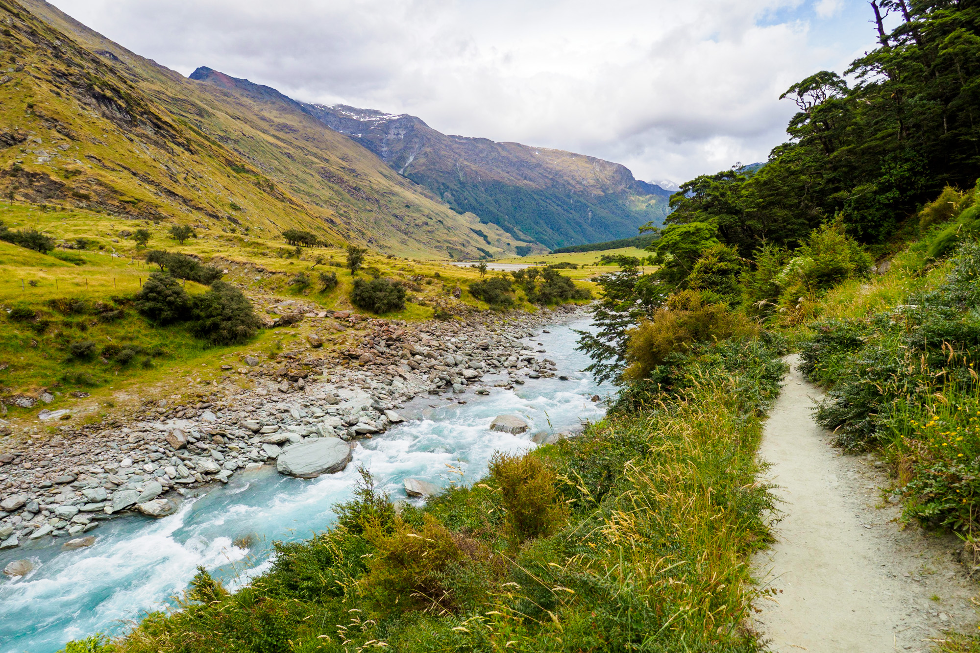 Wanaka - Wanderweg zum Rob Roy Glacier