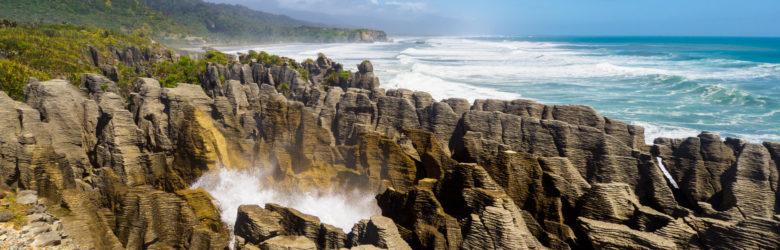 Westküste - Blowhole bei den Pancake Rocks