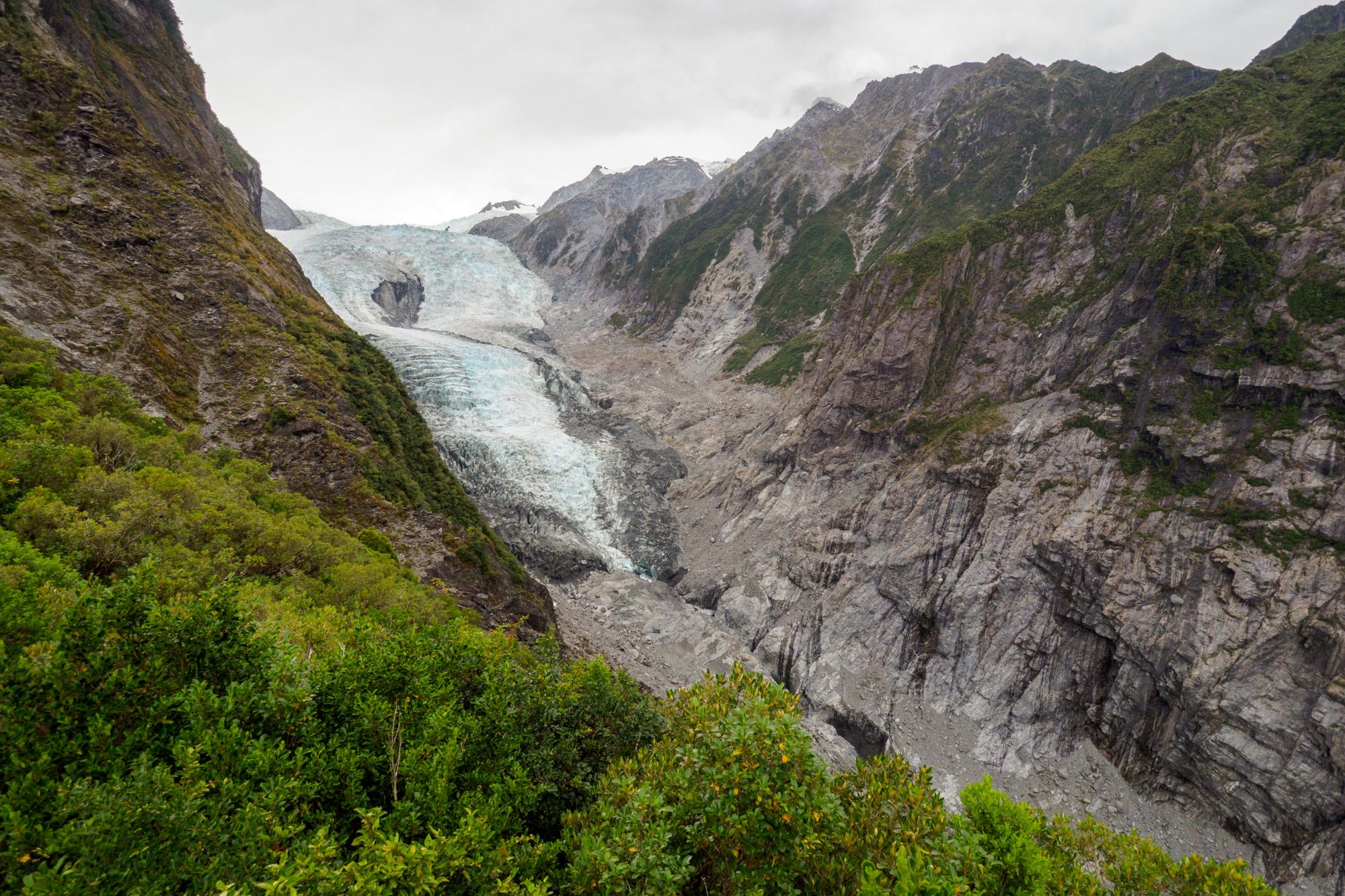Westküste - Aussicht vom Roberts Point auf den Franz Joseph Glacier