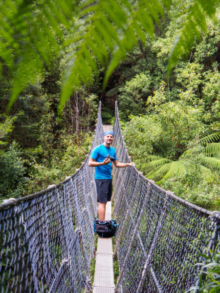 Cradle Mountain Nationalpark- Hängebrücke beim Montezuma Fall
