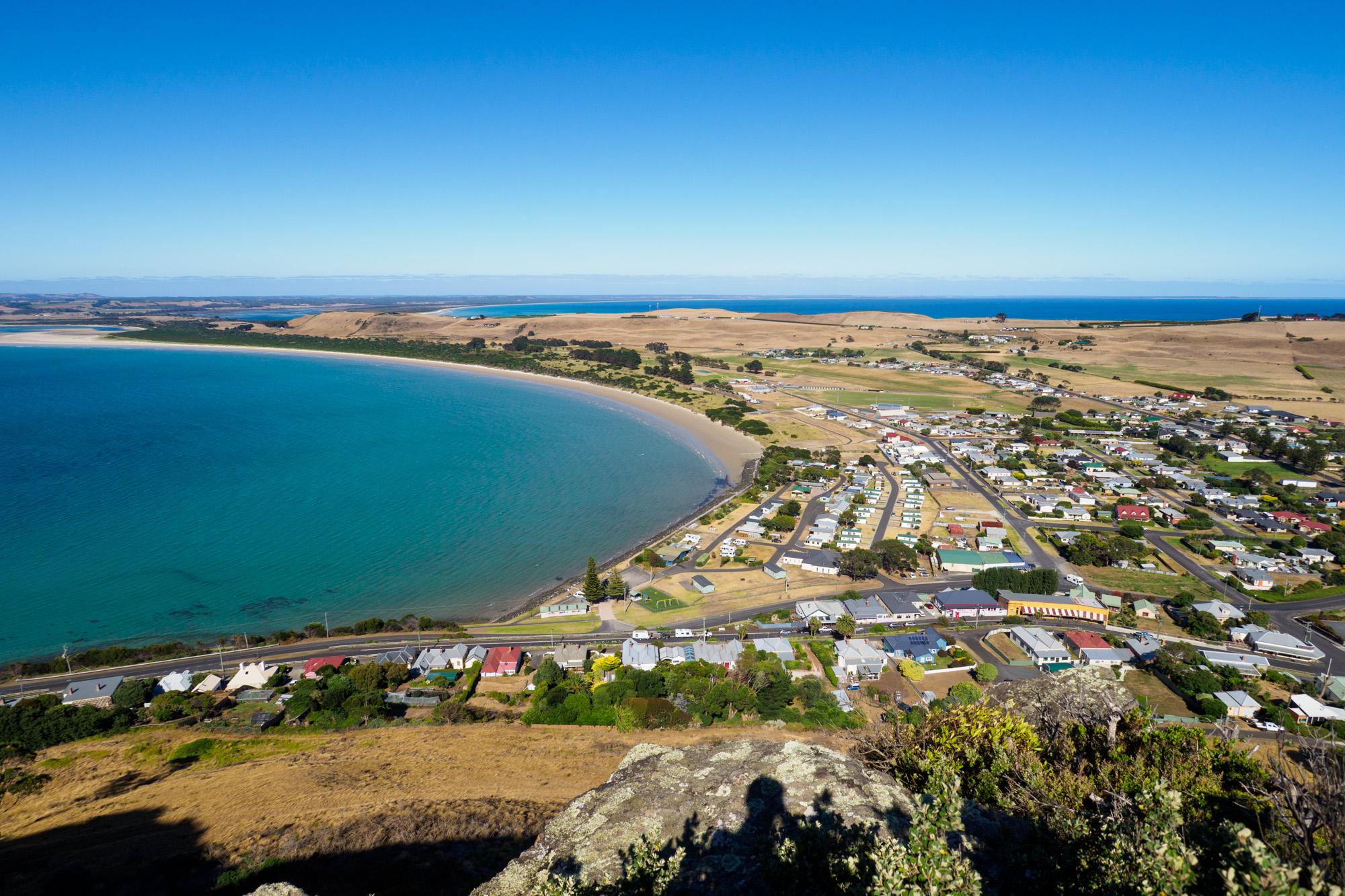 Nordküste - Ausblick von The Nut auf Stanley