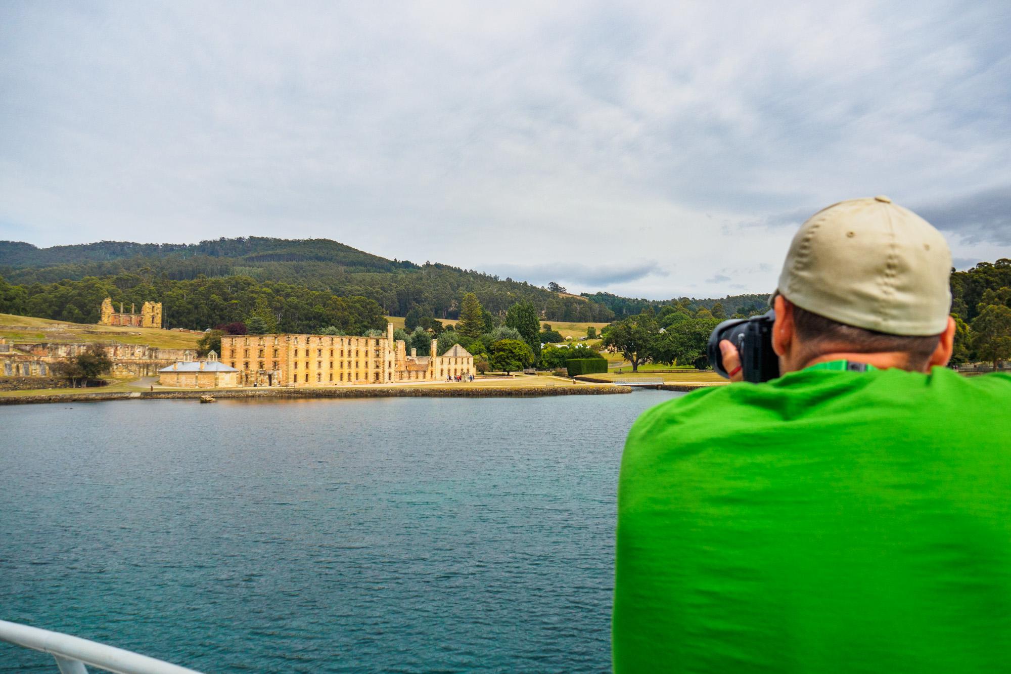 Tasman Peninsula - Schiffahrt in der Bucht vor Port Arthur