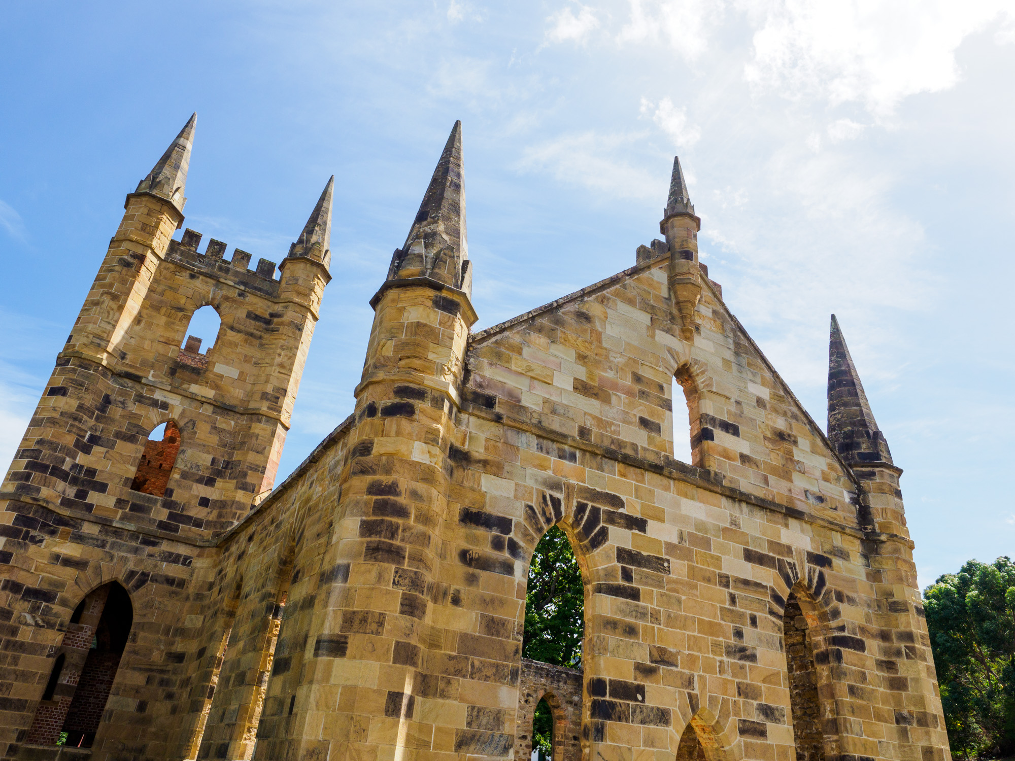 Tasman Peninsula - Ruine der Kirche