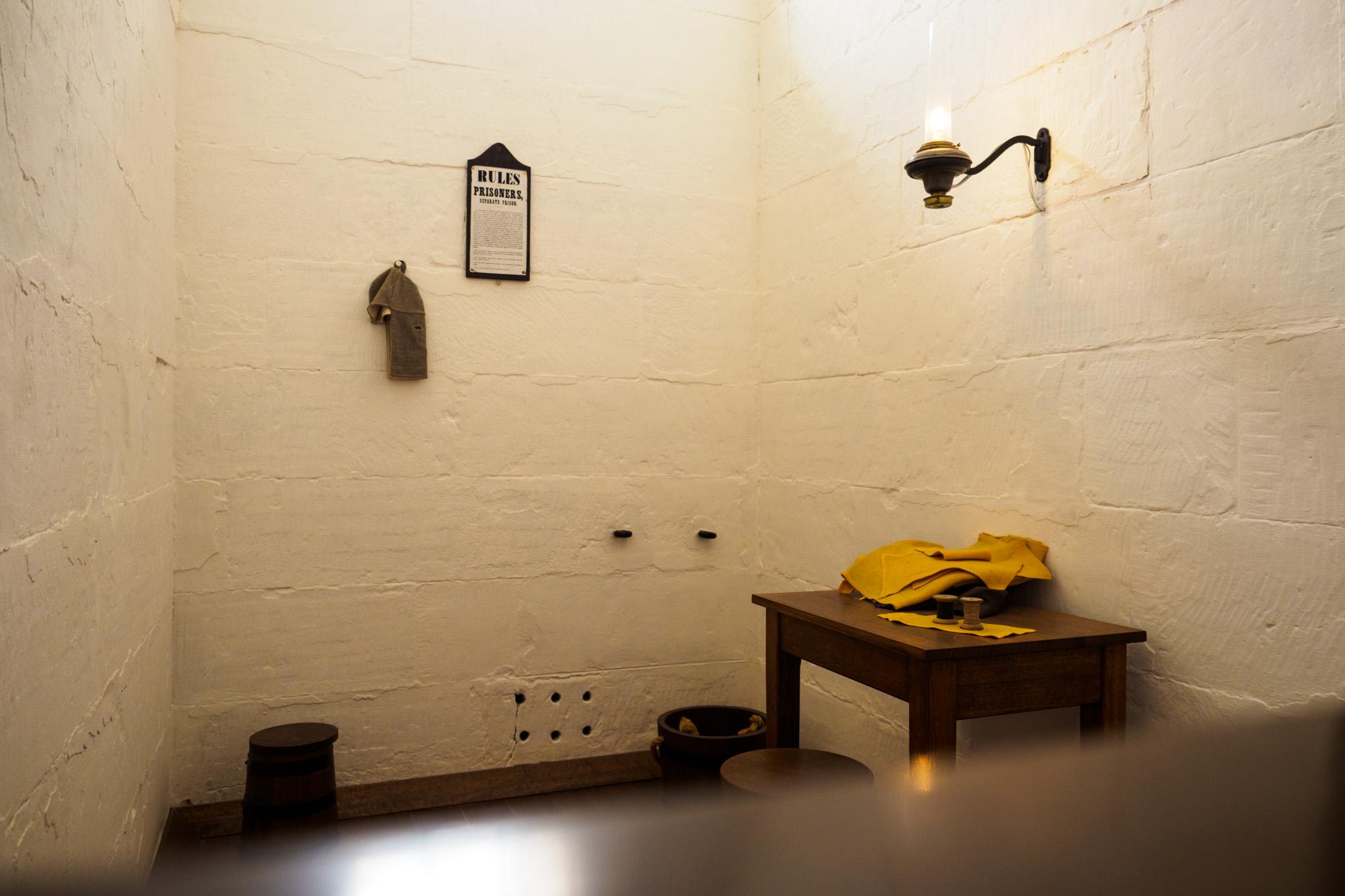 Tasman Peninsula - Nachbildung einer Gefängniszelle