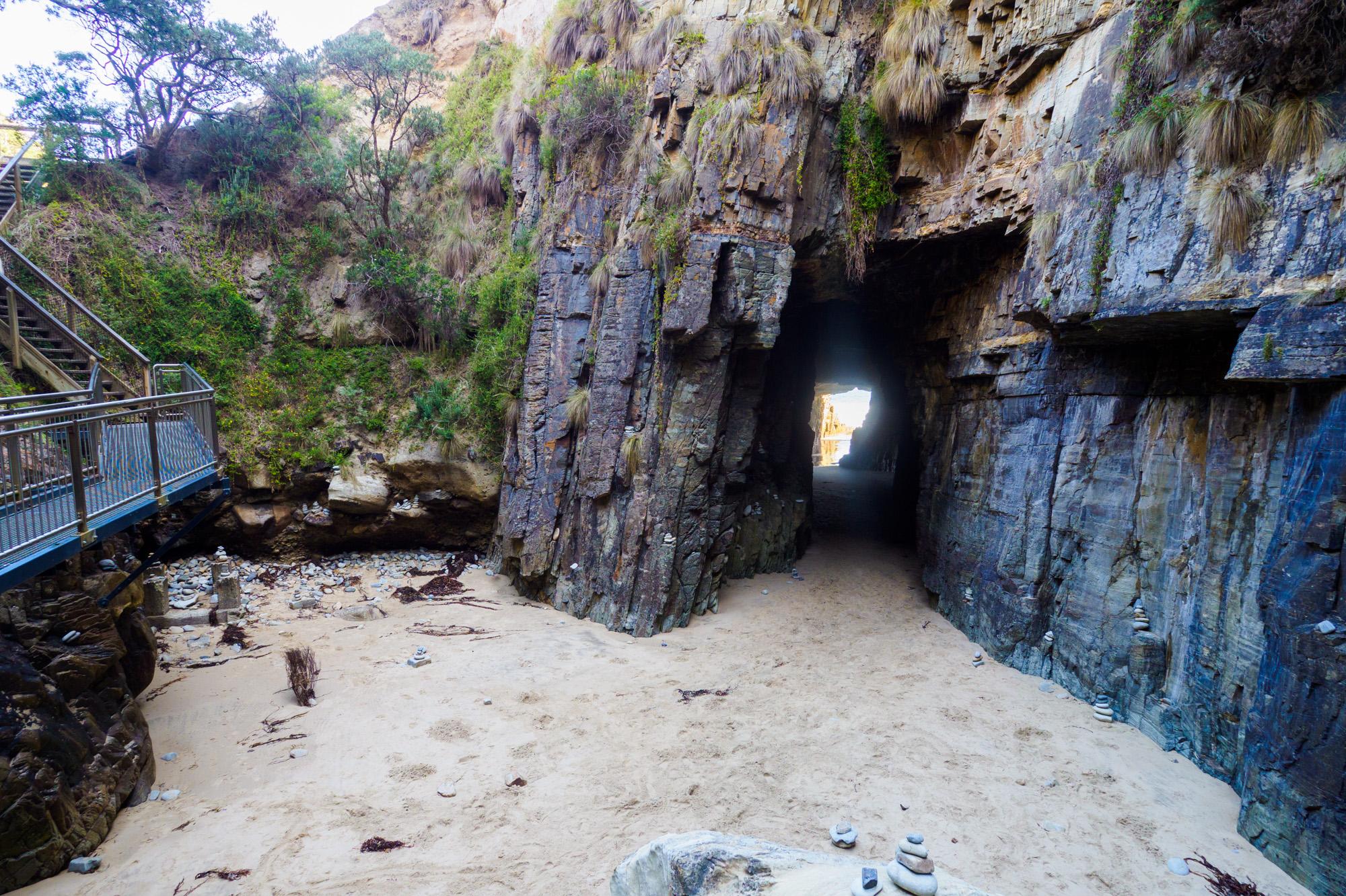 Tasman Peninsula - Blick in die Remarkable Cave