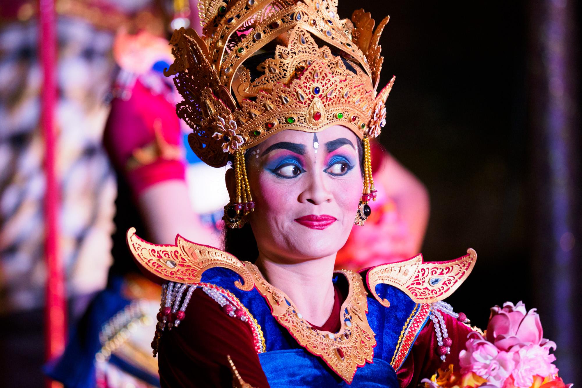 Ubud - Tanzvorstellung im Ubud Palace